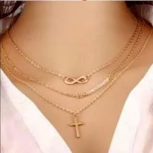 Multi layer chain choker necklace
